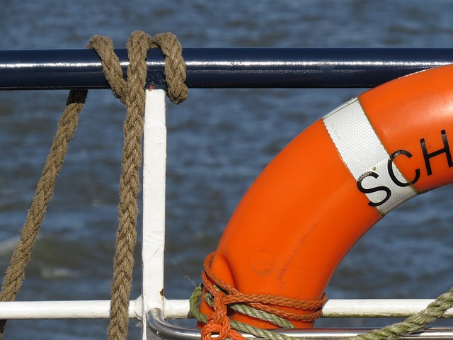 Lifesaver on a boat