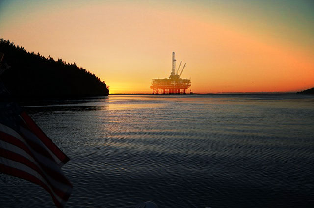 offshore oil rig, overseas, borrowing employer