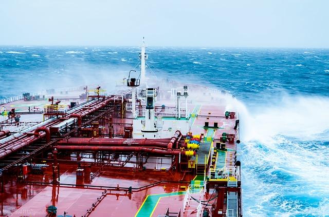Slippery shipping vessel deck