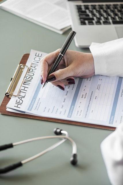 Health insurance paperwork