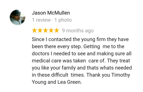 Former client Jason reviews maritime attorney Tim Young