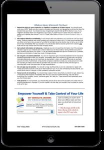 Offshore Injury Aftermath Tip Sheet PDF ipad screen