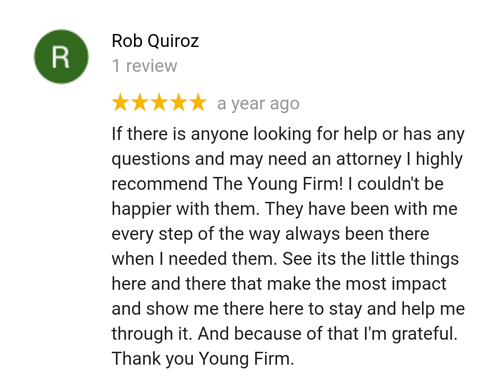 Former client Rob reviews maritime attorney Tim Young