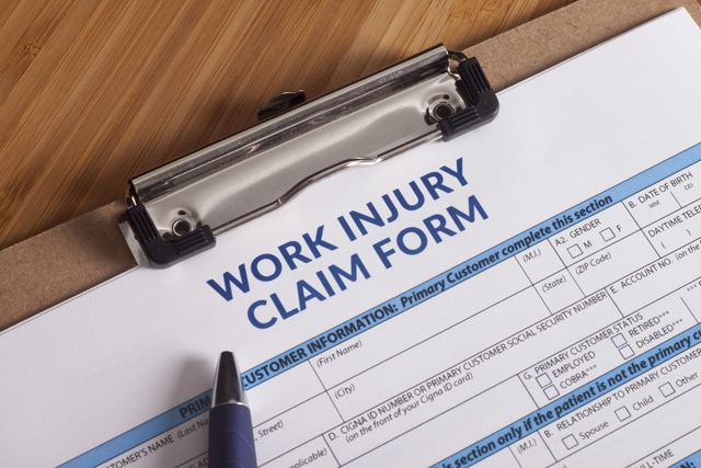 document of work injury claim form