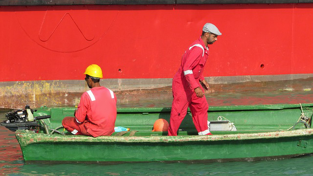 maritime workers on a boat