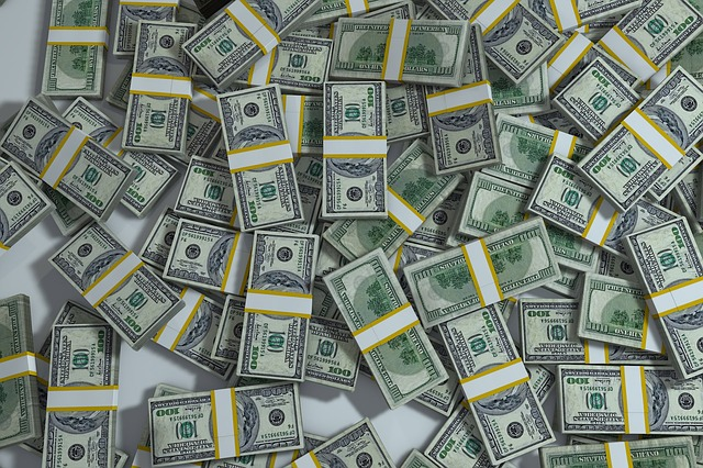 piles of money, settlement payments