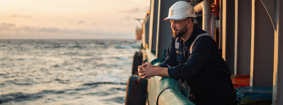 maritime worker at work